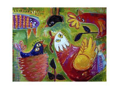 Barnyard Blues 1-Sara Catena-Giclee Print