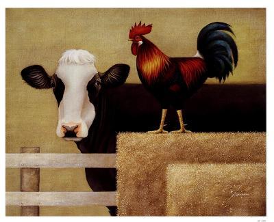 Barnyard Cow-Lowell Herrero-Art Print