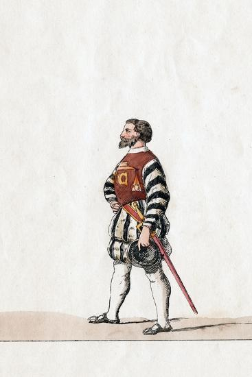 Baron, Costume Design for Shakespeare's Play, Henry VIII, 19th Century--Giclee Print