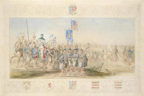 Baron Glenlyon, Knight of the Gael, 1839-James Henry Nixon-Giclee Print