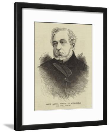 Baron Lionel Nathan De Rothschild