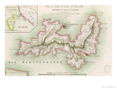 Map of the Island of Elba, 1814