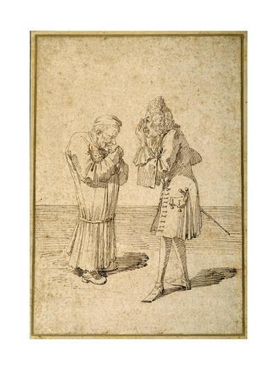 Baron Philip Von Stosch Showing an Antique Gem to Sabbatini-Pier Leone Ghezzi-Giclee Print