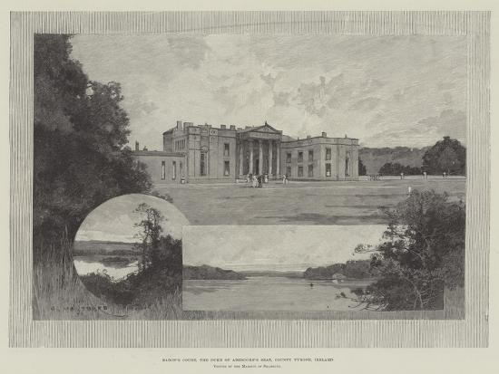 Baron's Court, the Duke of Abercorn's Seat, County Tyrone, Ireland-Charles Auguste Loye-Giclee Print