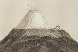 T.1594 Cotopaxi, Drawn by Stock from a Sketch by Humboldt, Engraved by Edmond Lebel (1834-1908)… by Baron Von Humboldt Friedrich Alexander