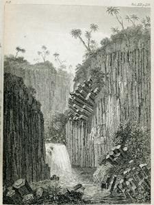 T.1597 Cascade of Regla, Near Mexico, from Vol I of 'Researches Concerning the Institutions and… by Baron Von Humboldt Friedrich Alexander