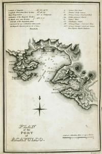 T.1598 Plan of the Port of Acapulco, Engraved by W. Lowry, from 'Plates to Alexander De… by Baron Von Humboldt Friedrich Alexander