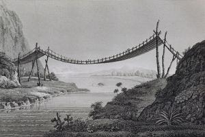 T.1603 Bridge of Ropes, Near Penipe, from Vol II of 'Researches Concerning the Institutions and… by Baron Von Humboldt Friedrich Alexander