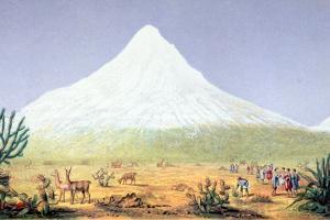 T.1607 Chimborazo, from 'Views of Nature', Pub. C.1850 by Baron Von Humboldt Friedrich Alexander