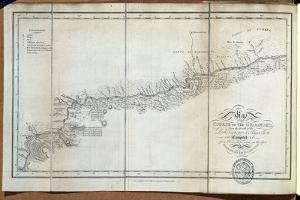 T.1608 Map of the Course of the Oroonoko from the Mouth of the Rio Sinaruco to Angostura, from… by Baron Von Humboldt Friedrich Alexander