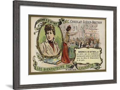 Baroness Bertha Von Suttner, Austrian Novelist and Pacifist--Framed Giclee Print