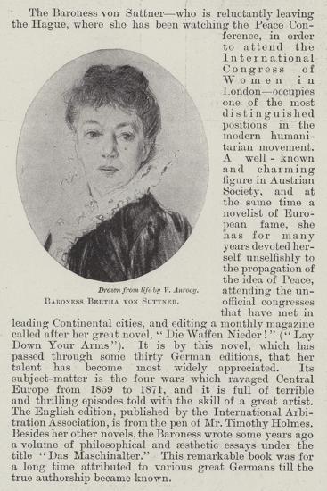 Baroness Bertha Von Suttner--Giclee Print