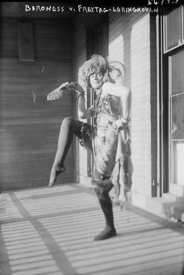 Baroness Von Freytag-Loringhoven, c.1915--Photographic Print