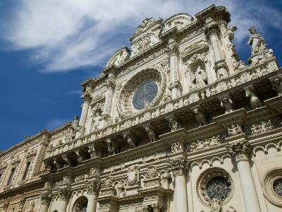 Baroque Architecture, 17th Century Santa Croce Church, Lecce, Puglia, Italy-Walter Bibikow-Photographic Print
