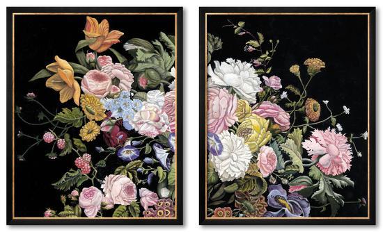 Baroque Diptych Set--Framed Set
