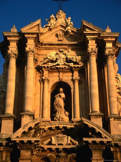 Baroque Facade of Il Duomo, Syracuse, Sicily, Italy-Diana Mayfield-Photographic Print