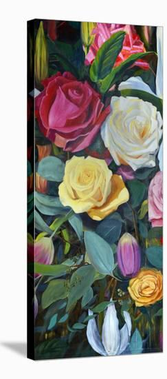 Baroque Flower Triptych II-Sandra Iafrate-Stretched Canvas Print