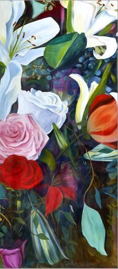 Baroque Flower Triptych IIIBy Sandra Iafrate