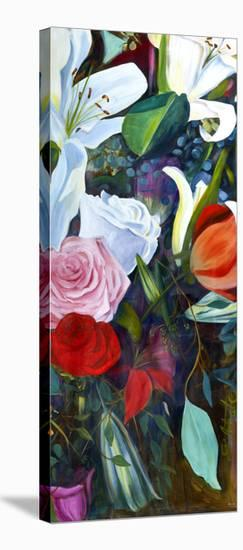 Baroque Flower Triptych III-Sandra Iafrate-Stretched Canvas Print