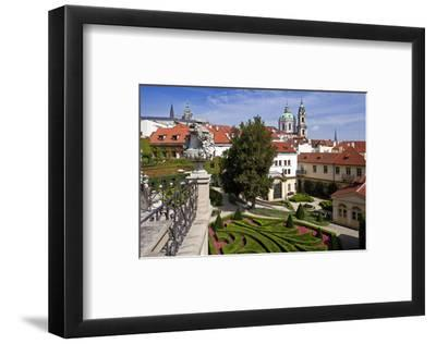 Baroque Garden of Vrtba Palace at Prague Lesser Town, Central Bohemia, Czech Republic