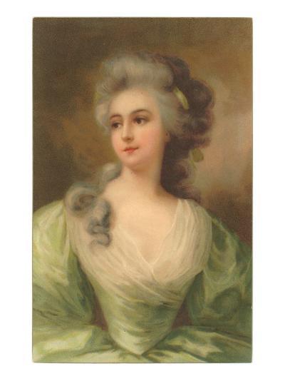 Baroque Portrait of Lady--Art Print