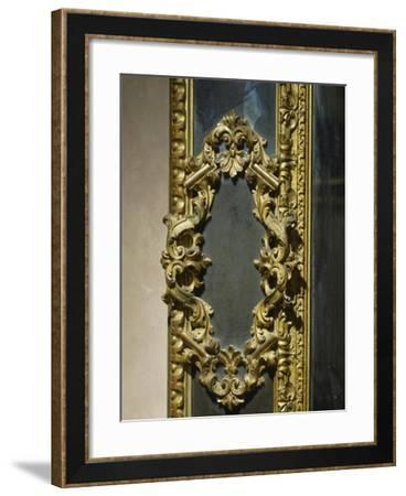 Baroque Style Venetian Mirror, Italy, Late 17th-Early 18th Century, Detail--Framed Giclee Print