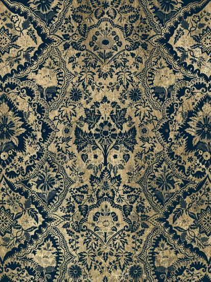 Baroque Tapestry in Aged Indigo I-Vision Studio-Art Print