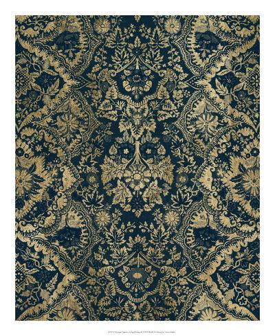 Baroque Tapestry in Aged Indigo II-Vision Studio-Giclee Print