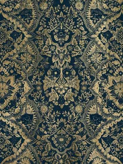 Baroque Tapestry in Aged Indigo II-Vision Studio-Art Print