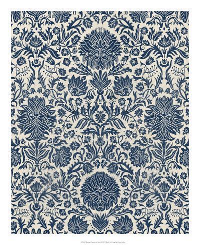 Baroque Tapestry in Navy I-Vision Studio-Giclee Print