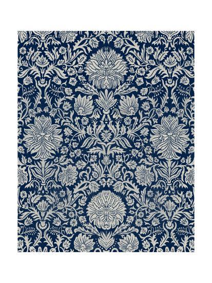 Baroque Tapestry in Navy II-Vision Studio-Art Print