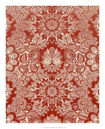 Baroque Tapestry in Red II-Vision Studio-Giclee Print