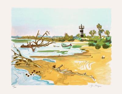 Barque au Petit Rhone-Yves Brayer-Limited Edition