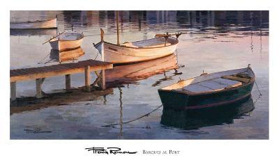 Barques al Port-Poch Romeu-Art Print