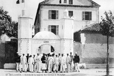 Barracks of the Recruits, French Foreign Legion, Sidi Bel Abbes, Algeria, 14 July 1906-J Geiser-Giclee Print