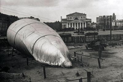 Barrage Balloon at the Bolshoi Theatre, Moscow, USSR, 1942--Giclee Print