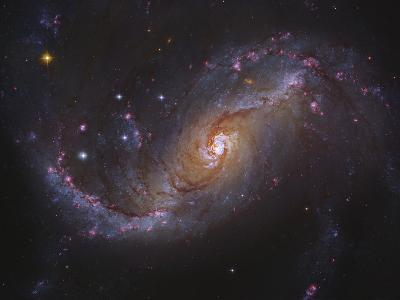 Barred Spiral Galaxy NGC 1672 in Dorado-Stocktrek Images-Photographic Print
