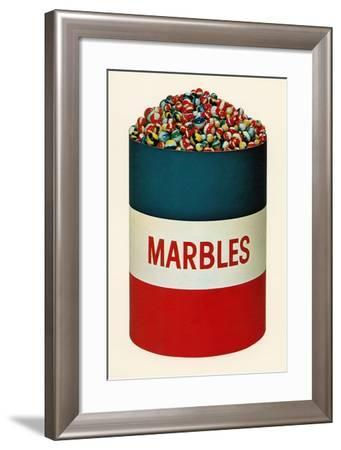 Barrel of Marbles-Found Image Press-Framed Photographic Print