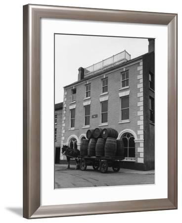 """Barrells in Irish Village Used During the Filming of """"Moby Dick""""-Carl Mydans-Framed Photographic Print"""
