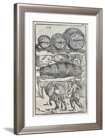 Barrels and Casks from the Twenty Days of Agriculture and the Pleasures of the Villa--Framed Giclee Print