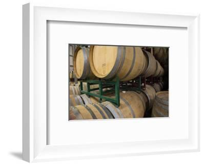 Barrels in winery, Newport Beach, Orange County, California, USA-Panoramic Images-Framed Photographic Print