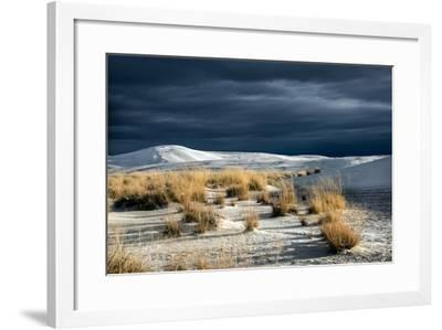 Barren Desert Landscape with Grasses under a Blue Sky-Jody Miller-Framed Photographic Print