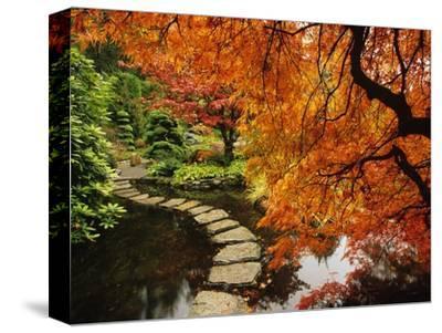 Autumn Colors in Butchart Gardens, Victoria, Vancouver Island, British Columbia, Canada