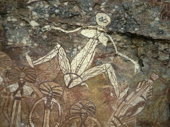 Barrginj, Wife of Namarrgon the Lightning Man, a Supernatural Ancestor at Aboriginal Rock Art Site-Robert Francis-Photographic Print