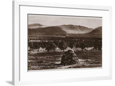 "Barrie's Grave, ""Find Me a Wind Swept Boulder for a Bier"", the Cairngorms--Framed Photographic Print"