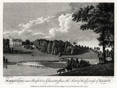 Barrington, Near Burford in Gloucestershire, the Seat of the Countess of Talbot, 1776-Michael Angelo Rooker-Giclee Print