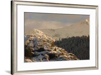 Barronette Peak in the Absaroka Range in Winter-Tom Murphy-Framed Photographic Print