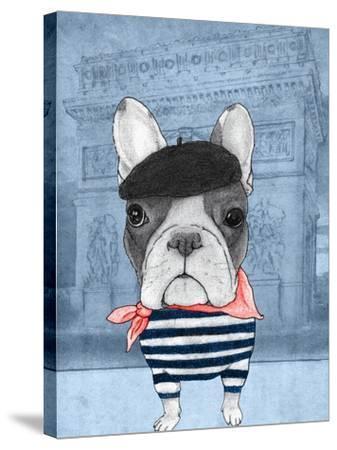 French Bulldog with Arc de Triomphe