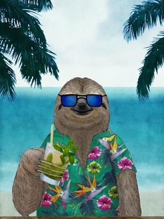 Sloth on Summer Holidays by Barruf