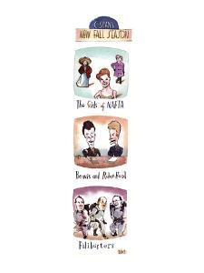 C-SPAN'S NEW FALL SEASON - New Yorker Cartoon by Barry Blitt